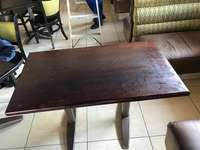 Image of rectangulare wooden table