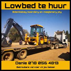 Lowbed to rent /Lowbed te huur