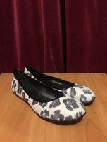 Женские кожаные туфли балетки Lady Unica (р. 41, черно-белые)