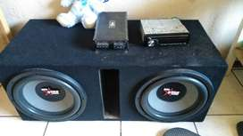 """2 12"""" 3500w star sound subs with superwood box"""