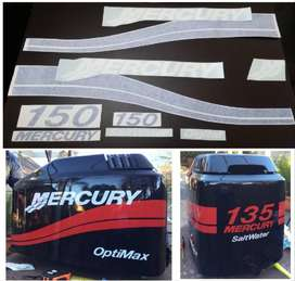 Mercury 150 outboard motor decals stickers vinyl cut graphics kits