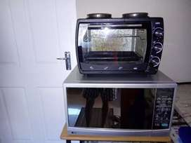 Microwave ,stove and oven