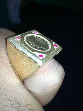 Silver ring mixed with gold
