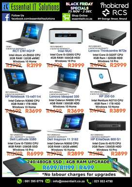 BLACK FRIDAY SPECIALS! @ Essential IT Solutions