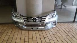 toyota fortuner 2017 to 2018 headlights front bumper and grill