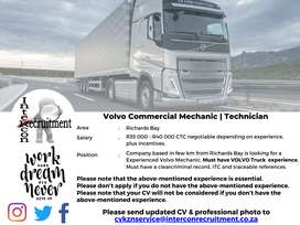 Volvo Commercial Mechanic | Technician - Richards Bay