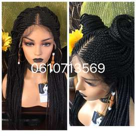 Neat and stunning Lace front cornrow braid wig