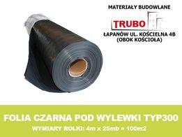 Folia budowlana czarna pod wylewki TYP300 GRUBA !