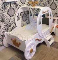 Кровать Карета, детская кроватка, кровать для девочки