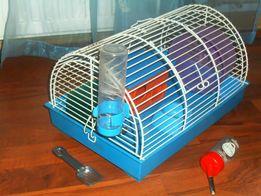Klatka domek dla chomika myszki niebieska