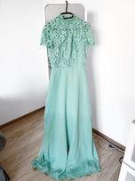 chi chi london długa sukienka maxi koronkowa 36 S studniówka wesele