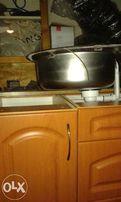 kuchnia 2,5 m po zdemontowaniu kolor olcha miodowa zlewozmywak, bateri