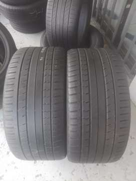 2x295/35/21 continental used tyres still in good condition