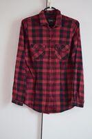 Czerwono-czarna koszula w kratę reserved