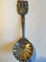Łyżka srebrna do sałat-Hanau pr.800 waga 79,25g.