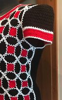 Sukienka na szydełku, ręcznie wykonana