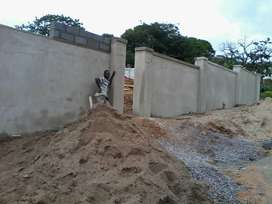 Houses, Roofing, Pavements & Returning Walls Construction