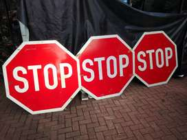 Large Metal STOP sign (One lot)