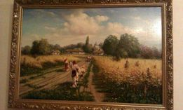 Картина Летний пейзаж М.Коника в раме. Холст. Масло. Размер 60*90 см