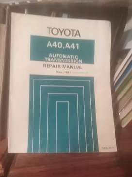 Toyota 1981, gearbox book