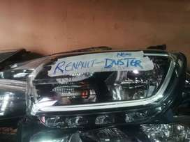 Renault Duster headlight with LED