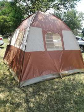 Selling camping tent,it has everything except for the bag
