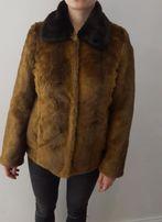 Futro Asos jak prawdziwe brązowe sztuczne płaszcz kurtka fur