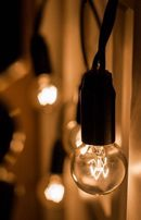 Гирлянда с лампочками в стиле Loft