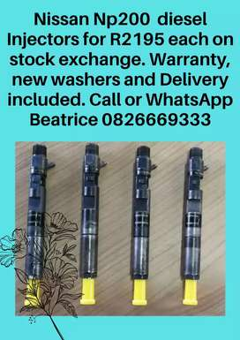 NISSAN Np200 Injectors available