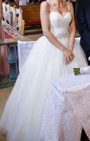 Suknia ślubna z kryształkami PILNIE