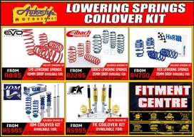 Lowering springs, coil-over coilover suspension kits springs and shock