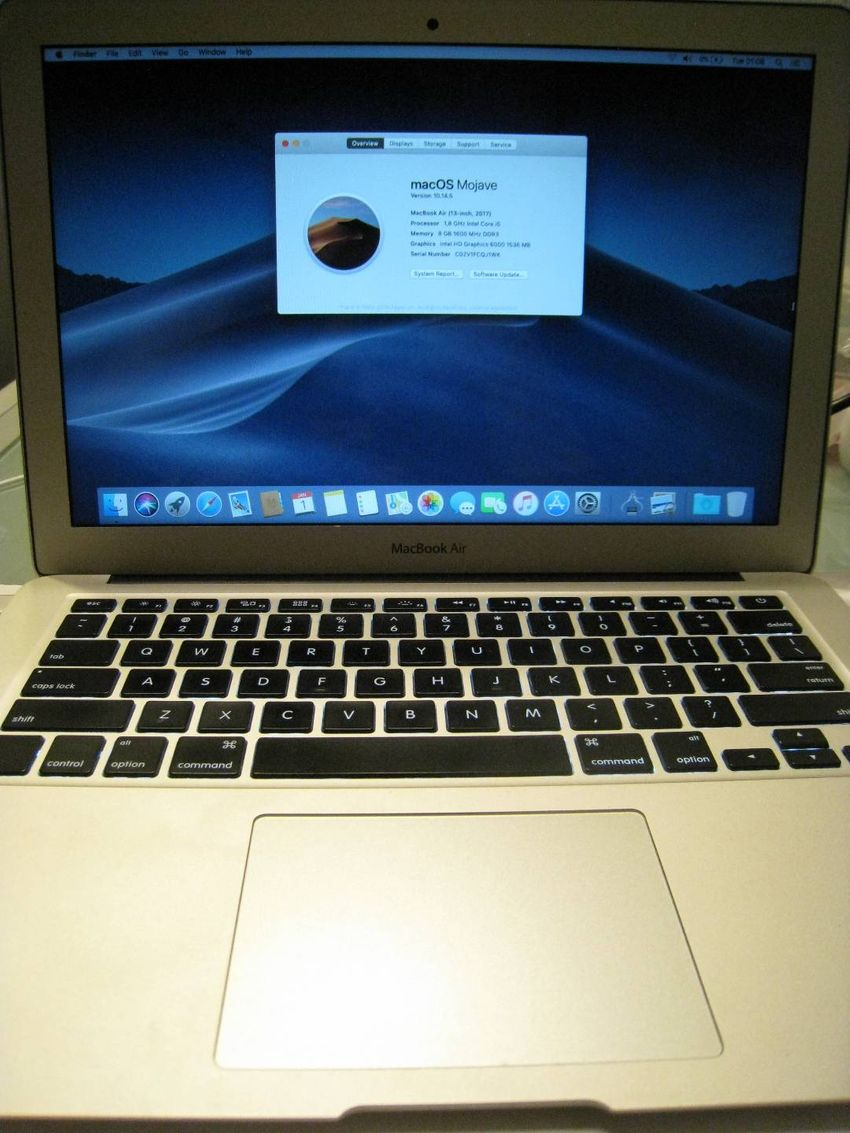 Macbook Air 2017 A1466 i5 1.8GHz 8GB ram 0