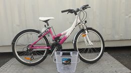 Nowy Rower dla dziewczyn Limber gb 1.4 24'' Różowo Biały Wyprzedaż