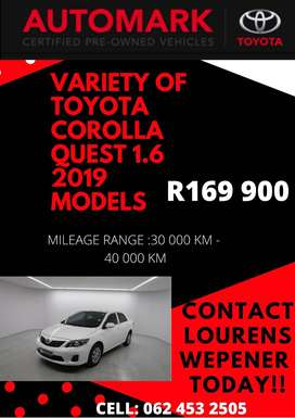 Toyota Corolla Quest Available