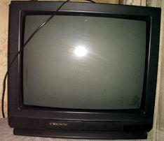 ЭЛТ телевизор CROWN 55cм аналог Sanyo СТV-H2101K JAPAN 2004г в ремонт