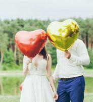 Balony serca foliowe na hel ślub walentynki nie napompowane
