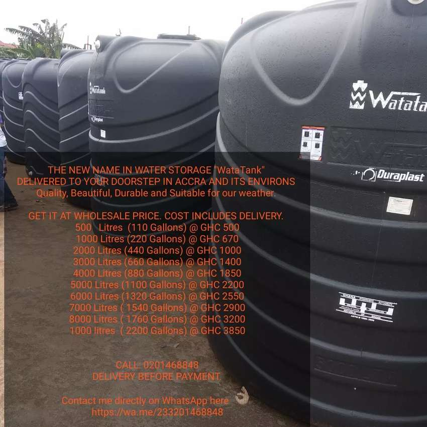 DELIVERING POLYTANKS TO YOUR DOORSTEP IN GREATER ACCRA 0