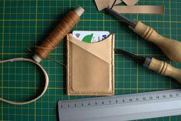 Skórzany portfel - ręcznie szyty