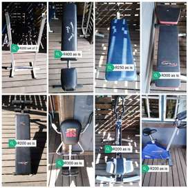 Gym equipment from R200