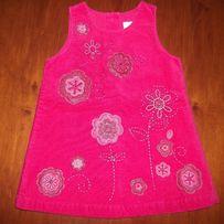 Sukienka sztruks ramiączko roz. 68 (P111