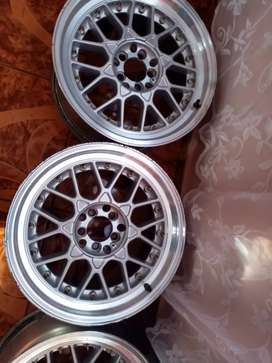 17 inch 5 holes BBS mag rims for sale