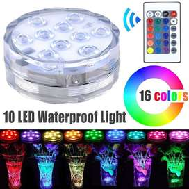 Waterproof RGB LED MultiColour Remote Controlled Submersible Light NEW