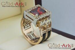 Золотой перстень с гранатом НОВАЯ ЦЕНА!!!