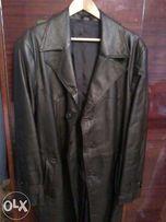 продам пальто кожаное длинное новое