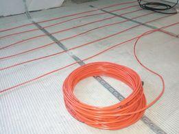 Тепла підлога кабель, мат під плитку, ламінат. Пленочный теплый пол.