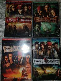Piraci z Karaibów - 4 FILMY DVD