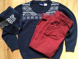 Sweterek i spodnie 98-104 + gratis