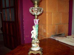 ORYGINALNA figuralna stara lampa naftowa z pięknym zbiorniki