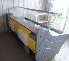 Холодильная мясная витрина VENTО(-3+5) 2,4 метра. Выкладка 87см. Новая