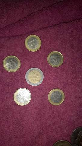 Old euro coins